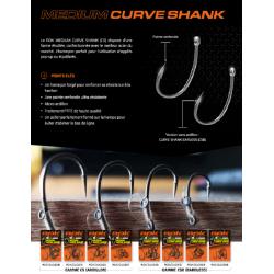 Hameçons Medium Curve barbless